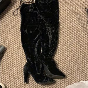 """Lane Bryant the high """"velour"""" boots"""